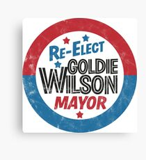 Re-Elect Mayor Goldie Wilson (distressed) Back to the Future Canvas Print