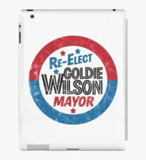 Re-Elect Mayor Goldie Wilson (distressed) Back to the Future iPad Case/Skin