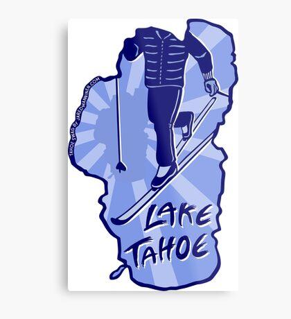 Cross-Country Ski Lake Tahoe Metal Print