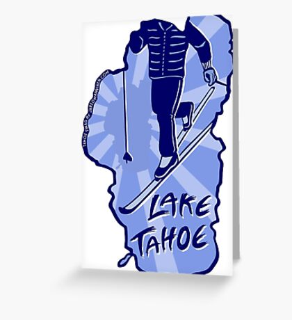 Cross-Country Ski Lake Tahoe Greeting Card