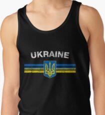 Ukrainian Flag Shirt - Ukrainian Emblem & Ukraine Flag Shirt Tank Top