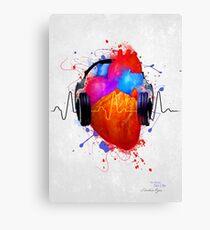 Lienzo Sin música no hay vida