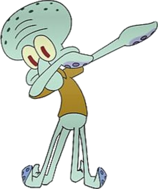"""""""Squidward Dabbing"""" Posters by Ethan Williams   Redbubble"""
