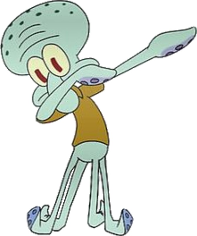 Quot Squidward Dabbing Quot Stickers By Ethan Williams Redbubble