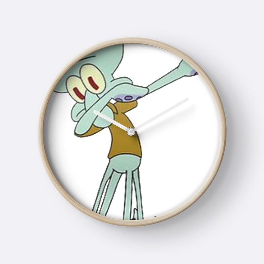 """Squidward Dabbing"" Clocks by Ethan Williams   Redbubble"