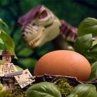 Lego T-Rex egg by Kevin  Poulton - aka 'Sad Old Biker'