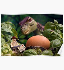 Lego T-Rex egg Poster
