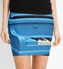 Piano Blues Mini Skirt