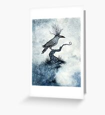 The Raven King Greeting Card