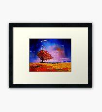 I stand alone.   Watercolour Landscape Art Framed Print