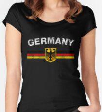 German Flag Shirt - German Emblem & Germany Flag Shirt Women's Fitted Scoop T-Shirt