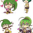 Sonika 4 pc sticker set by Chorvaqueen