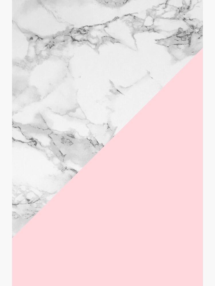Marmor + rosa Pastellfarbe. Klassische Geometrie. von colorandpattern