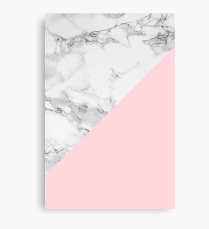 Marble + Pink Pastel Color. Geometría clásica. Lienzo