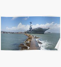USS Lexington from Sea Poster