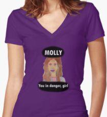 Molly, du bist in Gefahr, Mädchen Shirt mit V-Ausschnitt