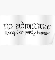 No admittance except on party business Poster