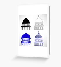 Set of Capitol Icons Isolated on White Background Greeting Card