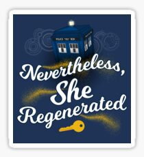 She Regenerated Sticker