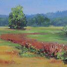 Summer Refuge Original Plein Air Painting by Karen Ilari