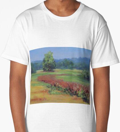 Summer Refuge Original Plein Air Painting Long T-Shirt