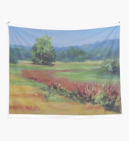Summer Refuge Original Plein Air Painting Wall Tapestry