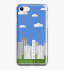 City Background. Architectural Building in Panoramic View.  Urban Landscape and City Life. Flat Design. iPhone Case/Skin