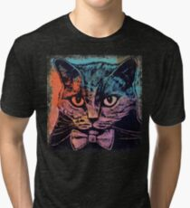 Old School Kitten Tri-blend T-Shirt