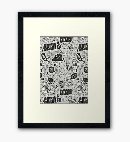 Gloom & Doom pattern Framed Print