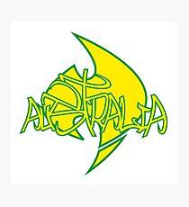 Australia Graffiti over Logo 1 Photographic Print
