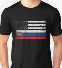 Slovak American Flag - USA Slovakia Shirt T-Shirt