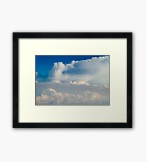 Beautiful Landscape Of Earth Clouds And Blue Horizon Framed Print