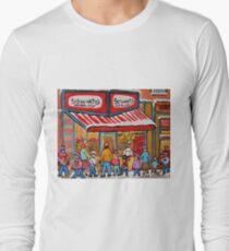 BEST SELLING MONTREAL PRINTS SCHWARTZ'S DELI MONTREAL ART BY CANADIAN ARTIST CAROLE SPANDAU T-Shirt