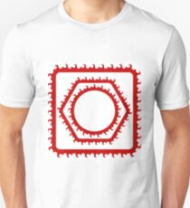 Set of Red Frames Isolated on White Background T-Shirt