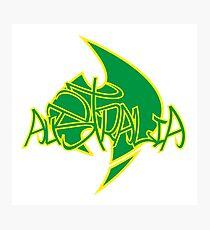 Australia Graffiti over Logo 2 Photographic Print