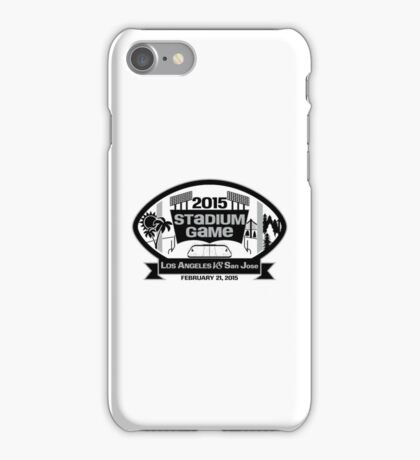 2015 LA Stadium Game - Black Text iPhone Case/Skin