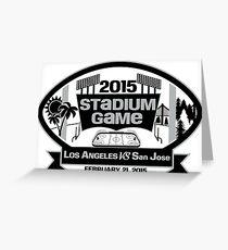 2015 LA Stadium Game - Black Text Greeting Card