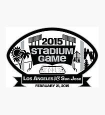 2015 LA Stadium Game - Black Text Photographic Print