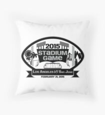 2015 LA Stadium Game - Black Text Throw Pillow