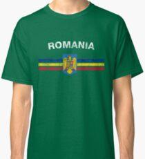 Romanian Flag Shirt - Romanian Emblem & Romania Flag Shirt Classic T-Shirt