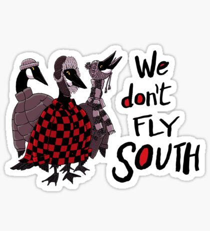 Oakland Geese don't fly South Sticker