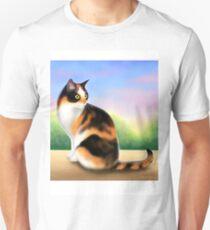 Calico Cat at Sunset Unisex T-Shirt