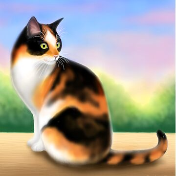 Calico Cat at Sunset by twopurringcats
