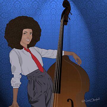Esperanza Spalding Comic Portrait by nealcampbell