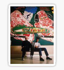 Basquiat met Andy Warhol Sticker