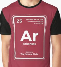 Arkansas Periodic Table of the Elements Design Graphic T-Shirt