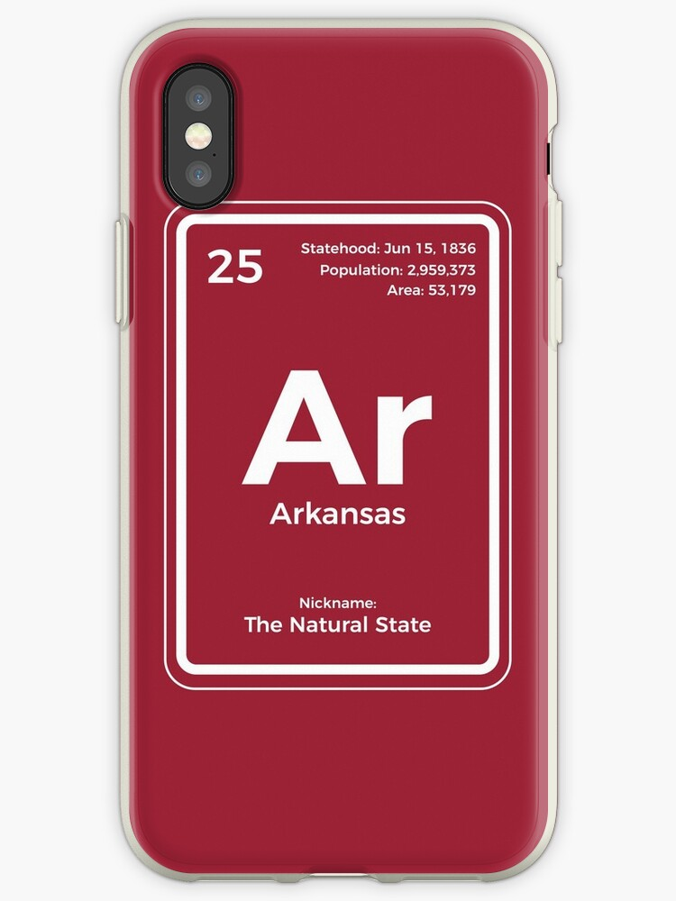 Arkansas Periodic Table Of The Elements Design Iphone Cases