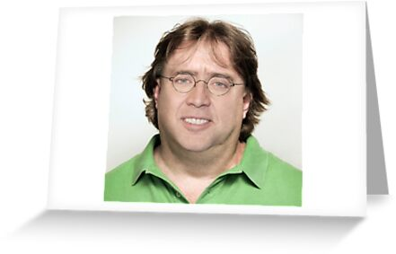 Nicolas Cagegabe Newell Greeting Cards By Balzac Redbubble