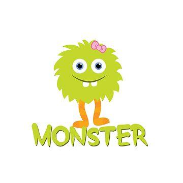 Monster - Child Green by hawklawson