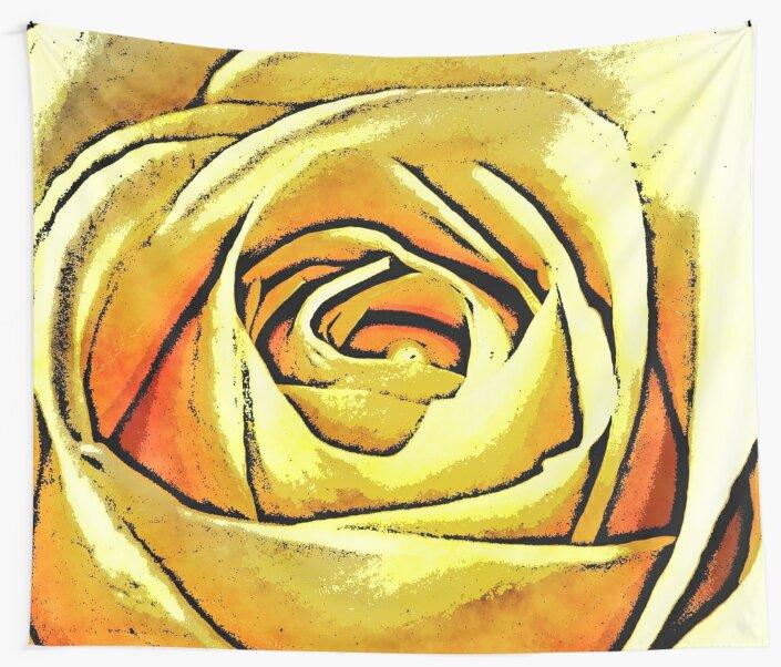 Golden Rose Flower by Phil Perkins